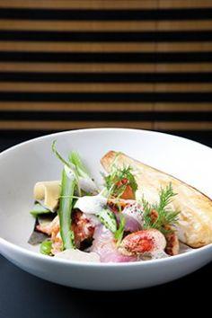 Gebakken kreeft met gezouten boter, kaviaar van aubergine en een emulsie van venkel - Culinaire Ambiance - Grégoir Debacker !