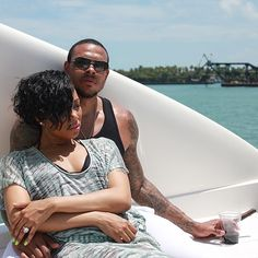 Monica and Shannon Brown share yacht photos on Instagram
