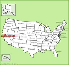 Sacramento Location On The U S Map