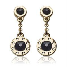 Oriflame LA STHLM Gold Earrings combination of Swarovski