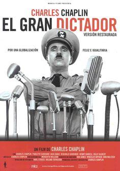 El gran dictador (The Great Dictator, Dirigida por Charlie Chaplin. Paulette Goddard, Charlie Chaplin, Cinema Movies, Movie Theater, Movie Tv, Old Film Posters, Cinema Posters, O Grande Ditador, Film Mythique