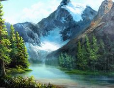 Take a vacation to the Canadian Glacier! For more information about classes and events, go to www.paintwithkevin.com