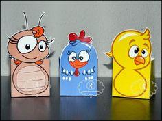 Blog da Ana de Fortaleza: Personalizados em Fortaleza: caixinhas da Turma da Galinha Pintadinha