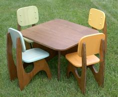 Modern Child's Table & Chairs - Simple construction, economical materials.