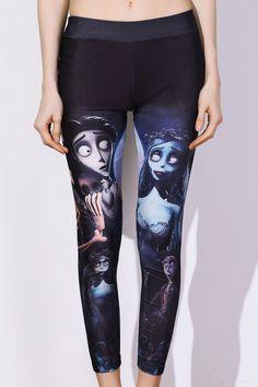 Chic Elastic Waist Printed Slimming Women's Pants