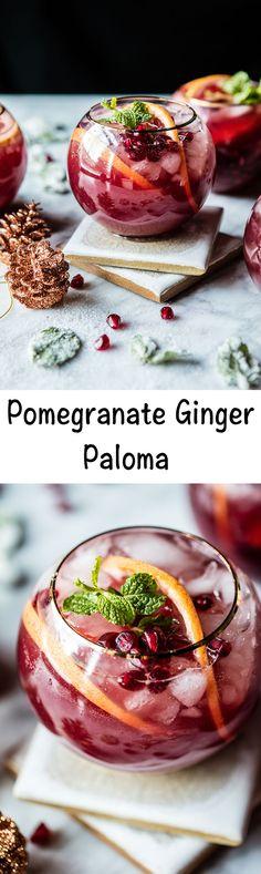 Pomegranate Ginger Paloma | halfbakedharvest.com @hbharvest #cocktaildrinks