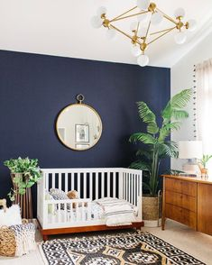 Perfect plants for decorating your baby's nursery room. Beautiful green design ideas for your baby room. Incorporate nature and green hues with a minimalist look into your nursery room. Source by Baby Bedroom, Baby Boy Rooms, Baby Room Decor, Nursery Room, Kids Bedroom, Bedroom Decor, Nursery Decor, Boho Nursery, Nursery Modern