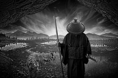 Mountains and Waters. Sumeru is a body of work that metaphorically illustrates the mental journey that is undertaken in Zen Buddhist training and practice. A digital photography project by Nick Pedersen an photography illustrator from Philadelphia, PA, USA.