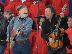 Seeger and Springsteen at the Obama inauguration