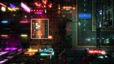 Cyberpunk Walking Street Animated Map - battlemaps Shadowrun Rpg, Sci Fi Rpg, Cyberpunk 2020, Rpg Map, Sci Fi City, Dnd Monsters, Pokemon, Dungeon Maps, Create Animation