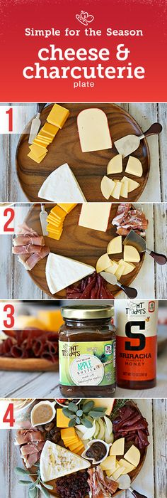 Simple for the season essential: Cheese Charcuterie Plate! Make your appetizer round a joyous one with these easy tips.