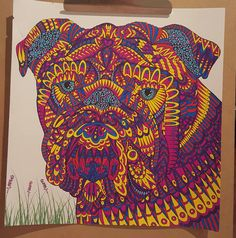 Coloured By Danielle Boyd. From The Menagerie. Coloured with stabilo fineliners..