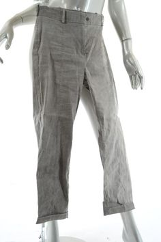 1764c76e70c Annette Görtz Taiupe Distressed Light Linen Blend Casual Crop Cuffed Pants  Size 10 (M