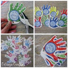 Crissy's Crafts: Kissing Hand Keys - Hand Print