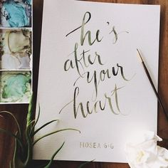 he's after your heart//