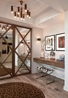 Just  replace our closet doors with these...I wonder   This can be DIYed #fabulous #elegant #clever