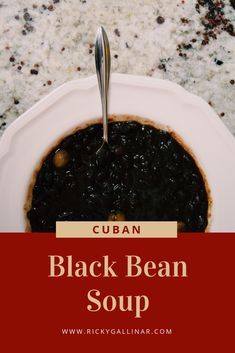 """A Cuban staple - """"Frijoles Negros"""", or black beans. This flavorsome recipe can be enjoyed a number of different ways; savor them as a soup, or poured over a serving of rice. Cuban Recipes, Low Carb Recipes, Lunch Recipes, Dutch Oven Cooking, Fun Cooking, Yummy Treats, Yummy Food, Dried Black Beans"""