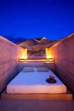 Sleep under the stars at your next hotel stay.  Amangiri Resort, Lake Powell, Canyon Point, Utah