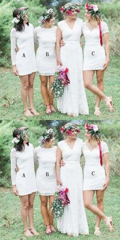 Little White Dresses - Bridesmaid special Cheap Bridesmaid Dresses Online, Simple Bridesmaid Dresses, Wedding Dresses, White Lace, White Dress, Shorts With Tights, Dream Dress, Dress Making, Dame