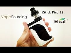 classic white and black of  Eleaf iStick Pico 25 with ELLO Full Kit