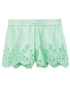 Imperial Star Eyelet Shorts, Big Girls (7-16)