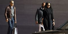 Drop Everything and Look at Barack Obama Sporting a Leather Jacket Like a Boss  - ELLE.com