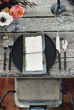 Moody Black and White Wedding Ideas photography by Abigail Bobo Photography Wedding Catering, Wedding Menu, Chic Wedding, Wedding Cards, Wedding Ideas, Catering Menu, Lesbian Wedding, Wedding Vintage, Wedding Pictures