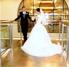 Valerie's LDS wedding dress