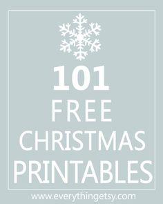 101 Christmas Printables