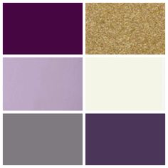 C&J wedding color palette: plum lilac gray gold cream eggplant Bedroom Colour Schemes Green, Bedroom Colour Palette, Gold Color Scheme, Gold Palette, Eggplant Wedding Colors, Gold Wedding Colors, Wedding Color Schemes, Plum Wedding, Aubergine Wedding