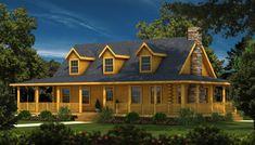 Charleston II - Log Home Plan | Southland Log Homes
