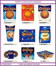Chocolate orange astuce recette minceur girl world world recipes world snacks Aldi Slimming World Syns, Asda Slimming World, Slimming World Sweets, Slimming World Syn Values, Slimming World Tips, Slimming World Recipes Syn Free, Chocolate Syns, Low Syn Chocolate, Terry's Chocolate Orange