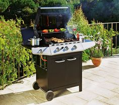 Cook for all your family and friends this summer with this 4 burner gas barbecue with side burner from #Argos