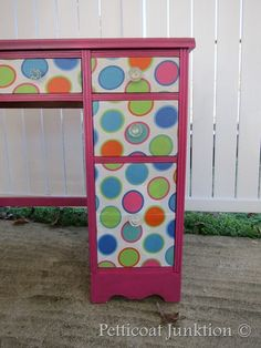 Decoupage desk……Going in Circles