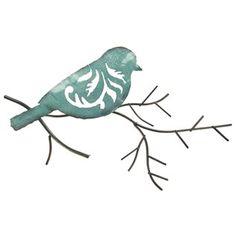 Blue Bird on a Twig Metal Wall Decoration | Shop Hobby Lobby