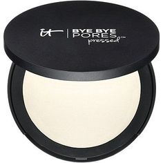 IT Cosmetics Bye Bye Pores Airbrush Silk Pressed Anti-Aging Finishing Powder perfects all skin types. It's like airbrushing in a compact. Best Pore Minimizer, Anti Aging, It Cosmetics Bye Bye Pores, Lotion, Makeup Setting Powder, Talc, Minimize Pores, Jojoba, Translucent Powder