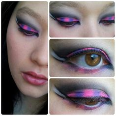 Cheshire cat inspired makeup I did (x-post from r/makeup) - Imgur
