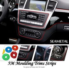 5M/lot Car-Styling Universal Cold Line Flexible Interior Decoration Moulding Trims Strips Car Styling Sticker Auto Accessories