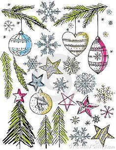 Christmas Decorative Hand Draw Elemants,