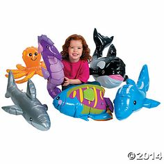 6 Inflatable Under the Sea Giant Animals - $20 for set of 6