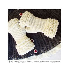 Ravelry: Winter White Fingerless Fur Gloves pattern by Ingunn Santini €4.00 EUR about $5.21