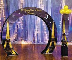 MuyAmeno.com: Decoración de Fiestas de Promoción con París, Cómo Decorar las Entradas
