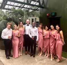 These bridesmaids wear our Shona Joy Bridesmaids range 💕 Pink Bridesmaid Dresses Short, Pink Bridesmaids, Wedding Dresses, Cocktail Length Dress, Joy, Range, Weddings, Bridal, Formal Dresses