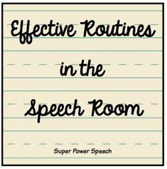 Effective Routines in Speech* Using a beginning routine for speech therapy has been a complete game changer for me. Students know exactly what to expect, and I can start taking date immediately! Speech Therapy Activities, Speech Language Pathology, Speech And Language, Language Activities, Physical Activities, Speech Therapy Organization, Classroom Organization, Speech Delay, Articulation Therapy
