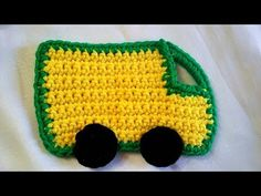 Applique Crochet - YouTube Appliques, Make It Yourself, Youtube, Key Pouch, Truck, Bags, Riveting, Youtubers, Youtube Movies