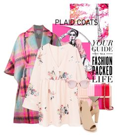 Your guide to a fashion packed life by no-where-girl on Polyvore featuring polyvore, fashion, style, MANGO, Delpozo, Karen Walker, Bloomingdale's, clothing and plaidcoats