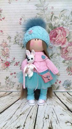 Tilda la muñeca Interior muñeca hecha a mano muñeca suave arte textil muñeca muñeca muñeca muñeca Rosa tela muñeca trapo muñeca de trapo bebé activo La muñeca es 28-30 cm de altura. Las muñecas están hechas de tela de muñecas europeas de materiales de calidad y americano 100%