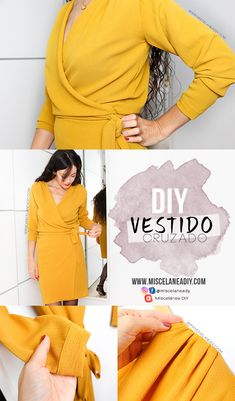 Tremendous Sewing Make Your Own Clothes Ideas. Prodigious Sewing Make Your Own Clothes Ideas. Belted Shirt Dress, Tee Dress, Wrap Dress Diy, Wrap Dresses, Sewing Clothes, Diy Clothes, Dress Sewing, Diy Vestidos, Dress Patterns