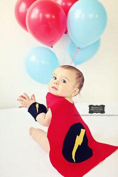 MY!!! Superhero Birthday Boy :) Handmade no sew felt cape and wrist cuffs