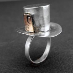 alice in wonderland jewelry Mad Hatter sterling by jewelstreet, $85.00